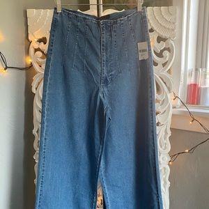 5b417 Forever 21 wide leg jeans